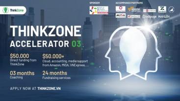ThinkZone Accelerator Batch 03 cam kết hỗ trợ startup trong giai đoạn